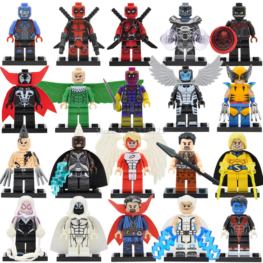 Single Super Hero Figure Daken Angel Baron Zemo Spawn Vulture Vulture Dr Strange Storm Building Blocks Toy Legoing