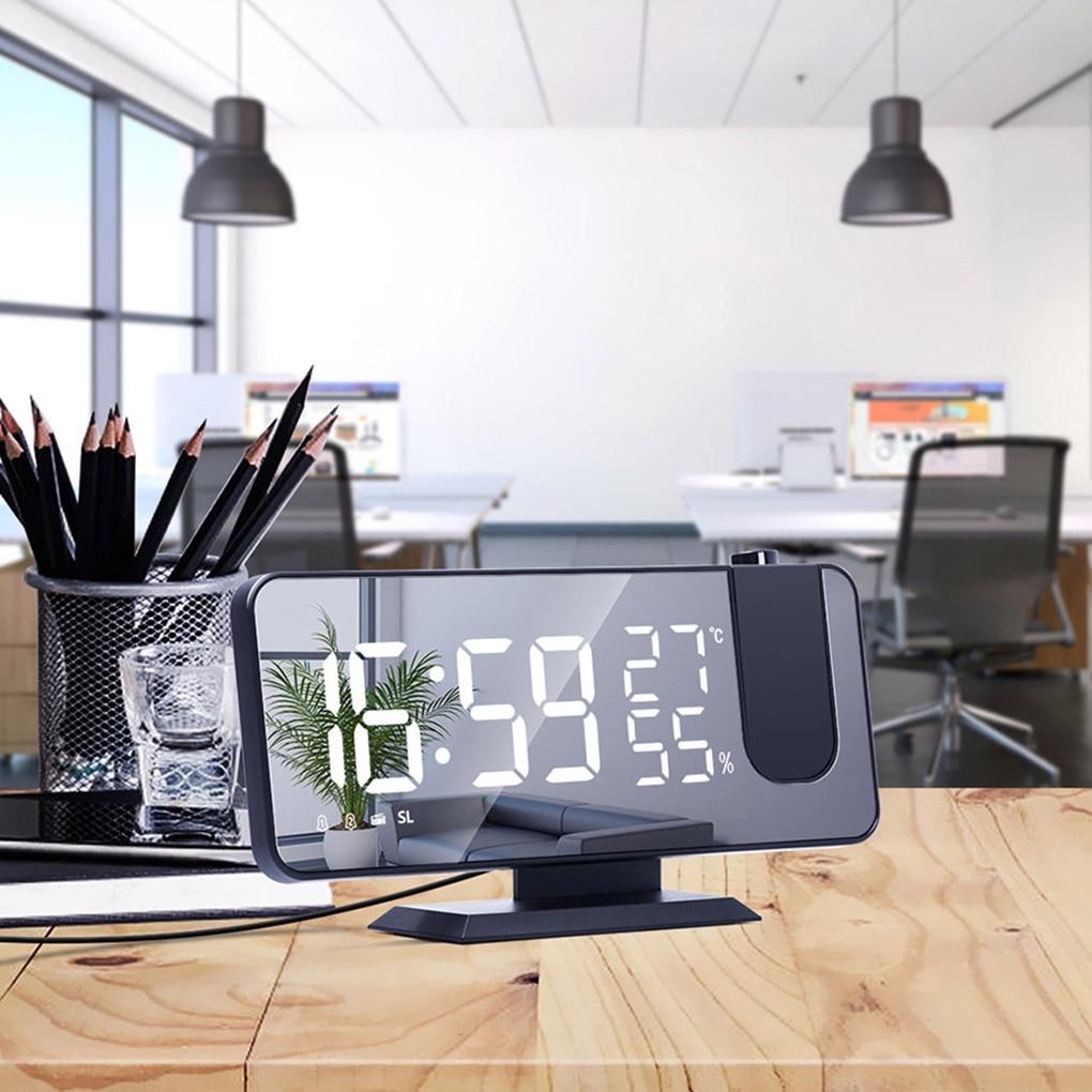 FM Radio LED Digital Smart Alarm Clock Watch Table Electronic Desktop Clocks USB Wake Up Clock with projection Time Snooze
