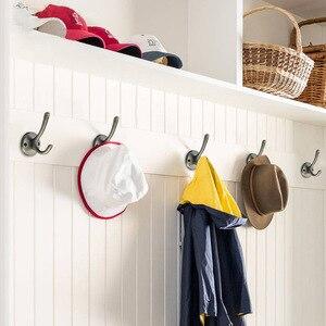 Image 2 - KAK Zinc aleación Vintage bronce gancho perchas gancho de pared para abrigo bolsa sombrero ganchos para baño o cocina Anitque bastidores con tornillos