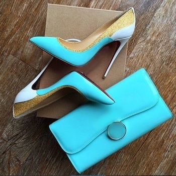 Newest Gold Glitter Patchwork Dress Shoes Pointed Toe Blue Patent Leather 12cm Stiletto Heels Pumps Shallow Celebrating Shoes new fashion patent leather high heel shoes woman sexy pointed toe stiletto heels gold metallic decoration dress heels