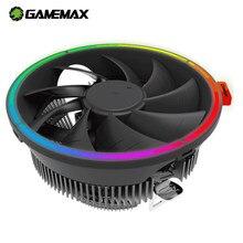 Gamemax rgb cpu cooler refrigerar 3pin 4pin pwm para intel lga 775 115x1366 amd am3 am4 pc silencioso ventiladores de ar ventilador de refrigeração cpu