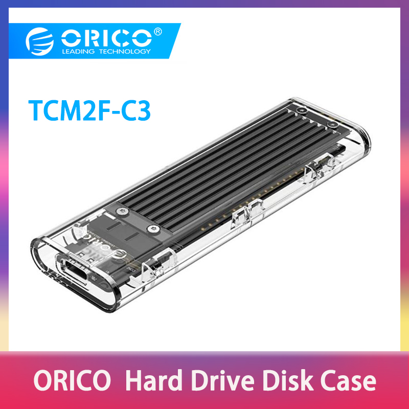 ORICO M2 SSD Case NGFF SSD Enclosure M.2 To USB 3.1 Type C For M.2 NGFF B Key SSD Disk Transparent Hard Drive Enclosure