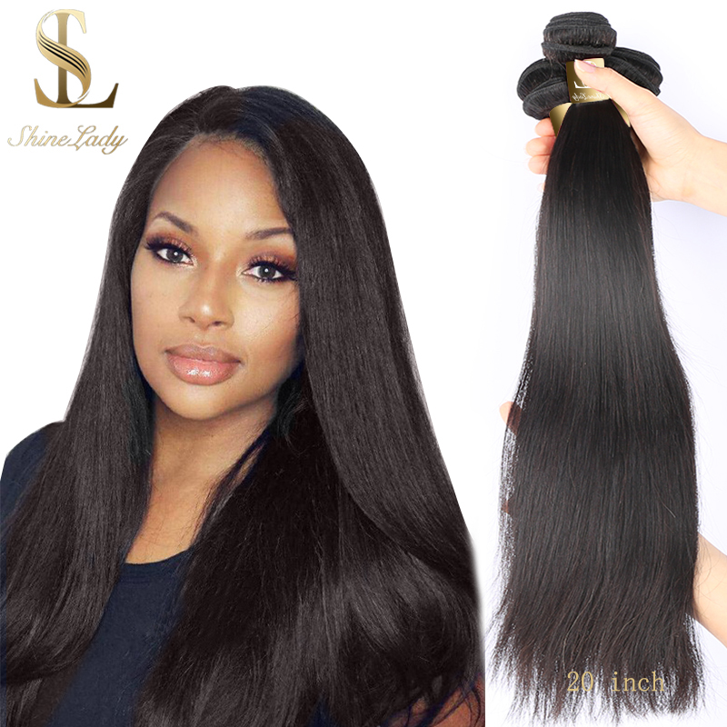 ShineLady Brazilian Straight Hair <font><b>Bundles</b></font> Natural Color 1/3/4 <font><b>Bundle</b></font> Human Hairs <font><b>Bundles</b></font> 20 <font><b>22</b></font> 24 <font><b>inch</b></font> Remy Hair Weave image