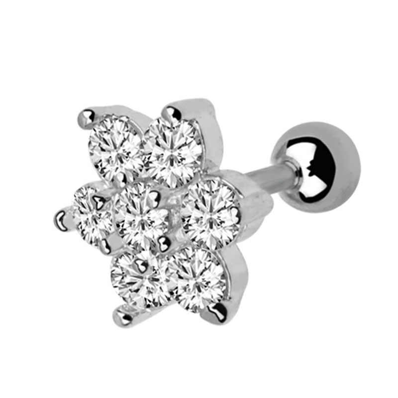 Lip Stud Ring Steel Ear Tragus Cartilage Piercing Oreja Earring Ear Stud Flower Helix Sexy Body Piercing Jewelry