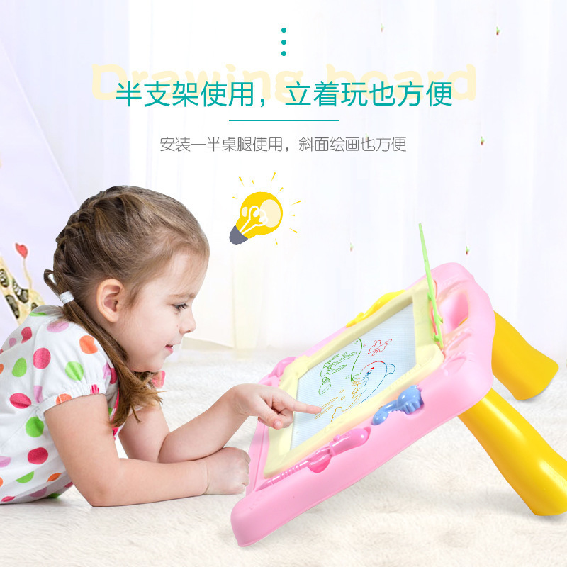Baby Color Magnetic Drawing Board Painted Doing Homework Graffiti Table CHILDREN'S Toy Men And Women Plastic Multi-functional Ha