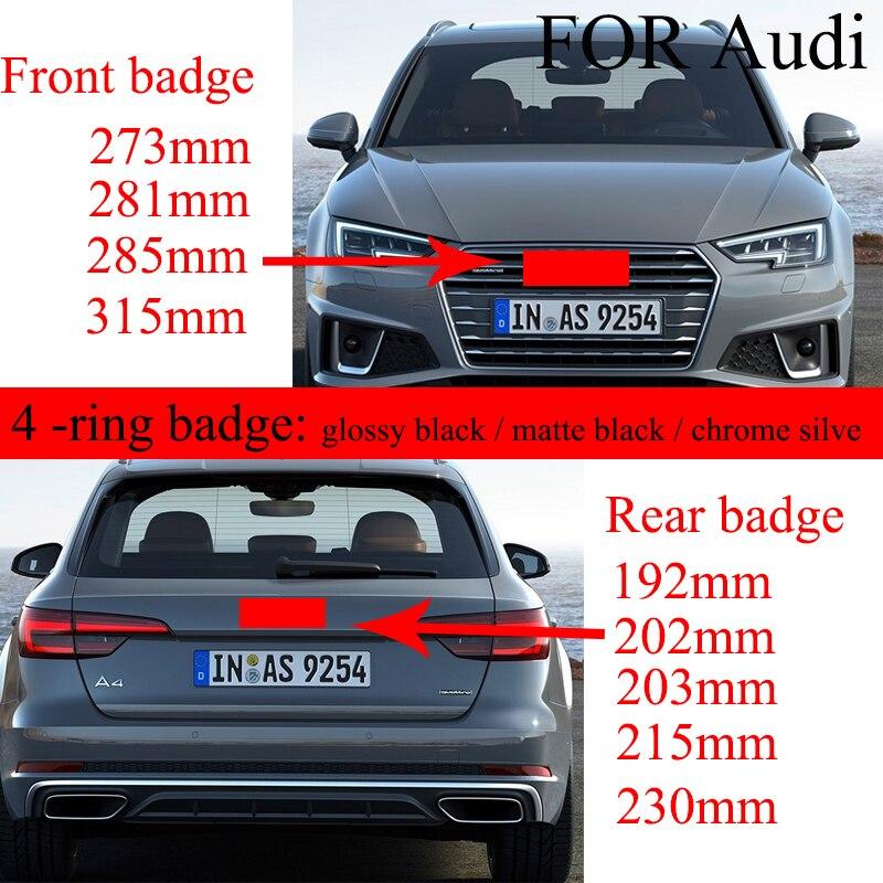 4 кольца 3D ABS серебристый или черный Автомобильный капот передний капот Гриль задний багажник эмблема логотип наклейка для Audi автомобильные аксессуары Стайлинг Эмблемы      АлиЭкспресс
