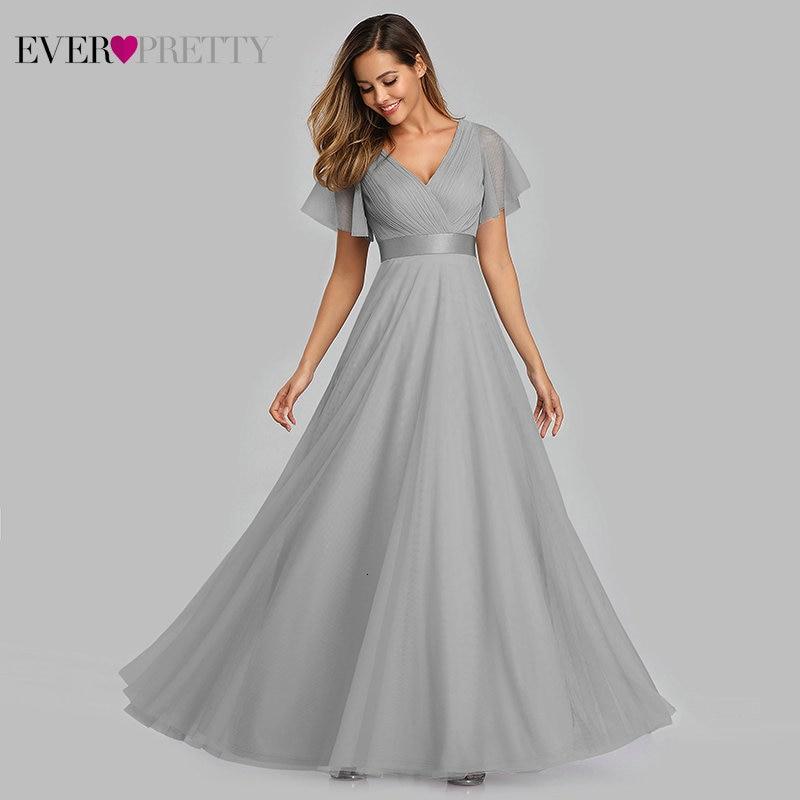 Longo de Baile com Decote em v Formal de Formatura Festa de Verão Vestido Tamanho Grande Azul Sempre Pretty Ep07962 Elegante Mulheres Sexy 2020 Vestidos