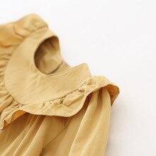 Рубашка для девочек Осенняя детская рубашка из чистого хлопка с длинными рукавами Детская рубашка с кружевом в Корейском стиле