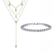 Подарочный набор украшений, ожерелье и браслет
