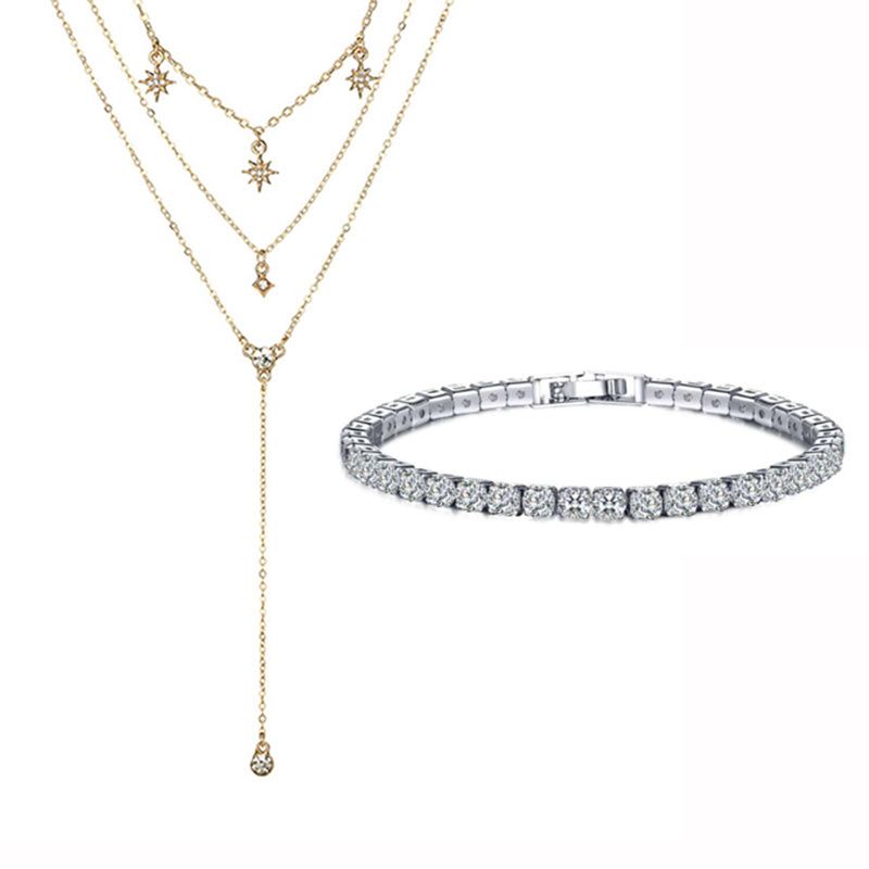 Gift Jewelry Set Necklace and Bracelet