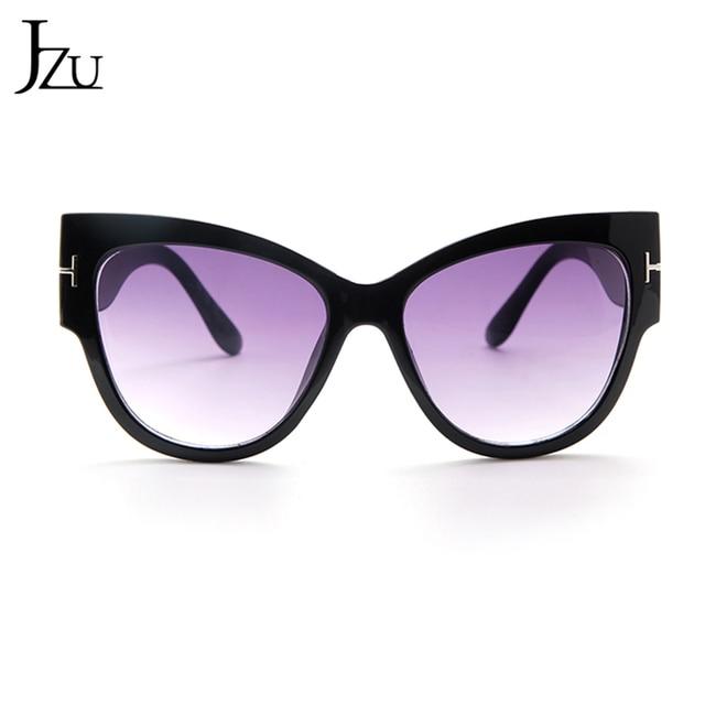 2019 New Brand Sunglasses Women Luxury Designer T Fashion Black Cat Eye oversized Sunglasses Female Gradient Sun Glasses oculos 8
