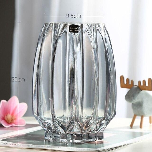 Vases Creative Large Glass Bottle Transparent Home Decor Hydroponic Terrarium Lily Rose Vase Living Room Flower Decoration 4