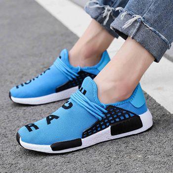 Zapatillas de deporte de moda para hombre, zapatos informales con cordones, transpirables, para caminar, talla grande, de verano 1