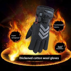 Image 2 - Winter Hand Warmer Electric Thermal Gloves Rechargeable Battery Heated Gloves Cycling Motorcycle Bicycle Ski Gloves