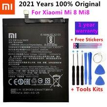 2021 Оригинальный аккумулятор для телефона BM3E для Xiaomi Mi 8 Mi8 M8 Real 3400 мАч Высококачественная сменная батарея