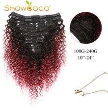 Clip dans les extensions de cheveux cheveux humains | Clip dans les extensions bouclés, naturel T1B / Bug Pince à cheveux Remy faite à la machine en 10-24 pouces
