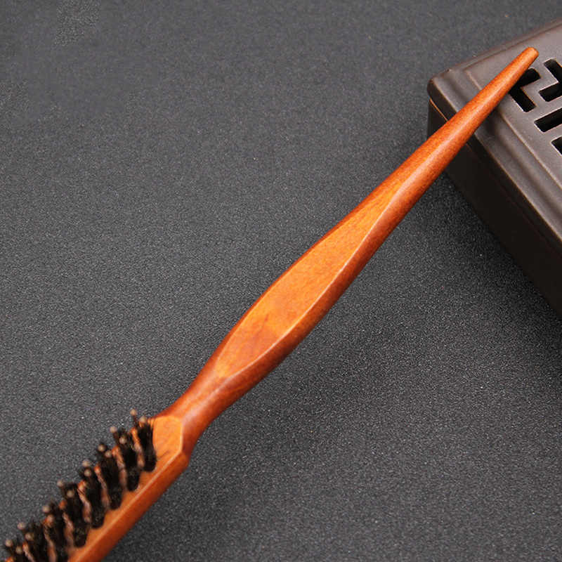 Salon Chuyên Nghiệp Trêu Chọc Lại Bàn Chải Tóc Bằng Gỗ Slim Line Lược Chải Lông Bờm Tóc Nối Dài Làm Tóc Dụng Cụ Tạo Kiểu 1