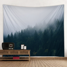 Beautiful fog forest landscape print hippie wall bohemian wall tapestry mandala wall art decoration tapestry sunset forest horse pattern wall art tapestry