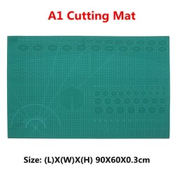 PVC A1 Self Healing Rotary Cutting Mat Craft Quilting Grid Lines Printed Board Green Patchwork Tools DIY Craft Cutting Mat Board