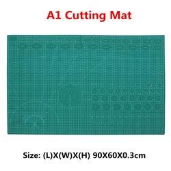 PVC A1 la curación de estera de corte de acolchado de las líneas de cuadrícula impresa de Patchwork verde herramientas bricolaje estera de corte junta