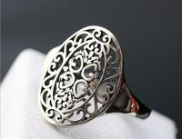 New Retro Thai silver ring opening silver girl RING 925 Sterling Silver Fashion oval ring free shipping