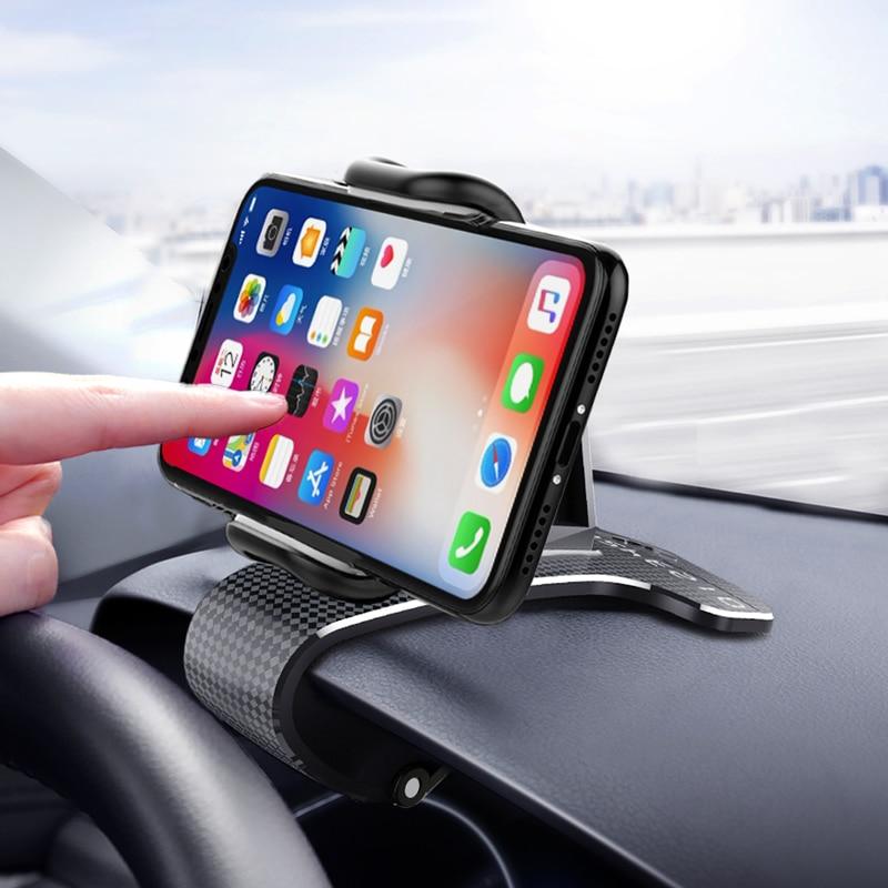 Phone Holder HUD Car Dashboard Phone Stand 360° Rotation Adjustable GPS Car Clips Holder For Universal Mobile Phone Car Stand