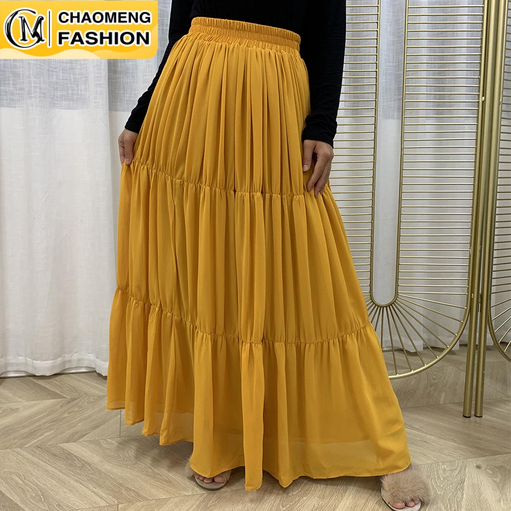 Ladies Designer Faldas Ropa Mujer Moda Muslim For Women High Waist Maxi Pencil Long Pleated Skirt Fashion Femme Winter Clothes