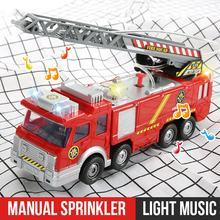 Jouet électrique de Simulation camion de pompier pour enfants, camion de pompier, voiture et camion léger, peut pulvériser de l'eau, cadeau pour garçon