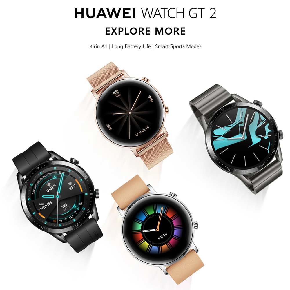 Original Huawei Smart Watch GT 2 GPS Two-Week Battery Life Waterproof Phone Call Heart Rate Tracker For Android iOS (1)