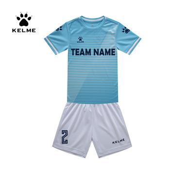 KELME Kid koszulka piłkarska strój piłkarski lato dostosowane garnitur Shark szkolenia Uniform dla drużyny sportowej dziecko 3803169 tanie i dobre opinie Pasuje prawda na wymiar weź swój normalny rozmiar CN (pochodzenie) Poliester Krótki