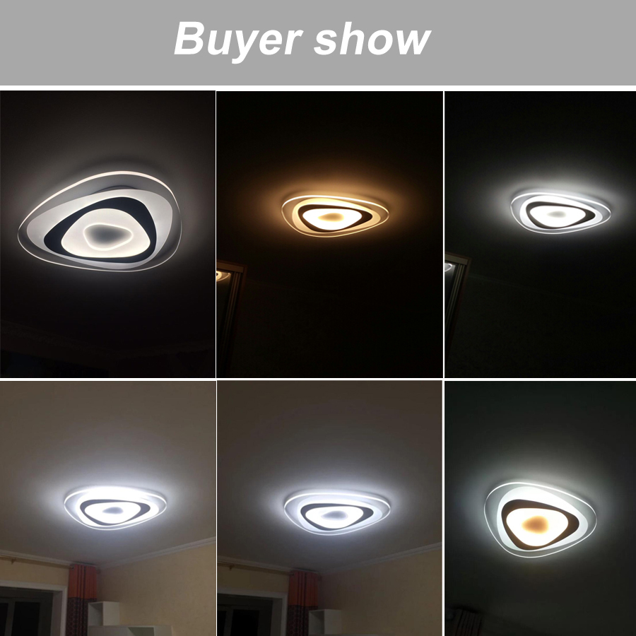 H6d2124e797614cc79b665c730aa27f88F Ultrathin Triangle Ceiling Lights lamps for living room bedroom lustres de sala home Dec LED Chandelier ceiling