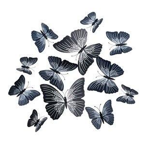12pcs PVC 3d Butterfly wall decor cute Butterflies wall stickers art Decals home Decoration room wall art(China)