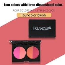 4 цвета, Румяна для лица, косметическая пудра, осветляющая кожу, палитра румян, аксессуары для макияжа