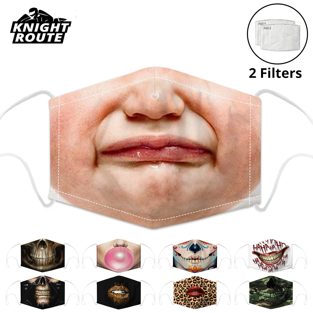 Motorcycle Masks Moto Men Women Face Mask Mouth Caps Face Shield Activated Carbon Filter Balaclava Dust Protective Mask Reusable