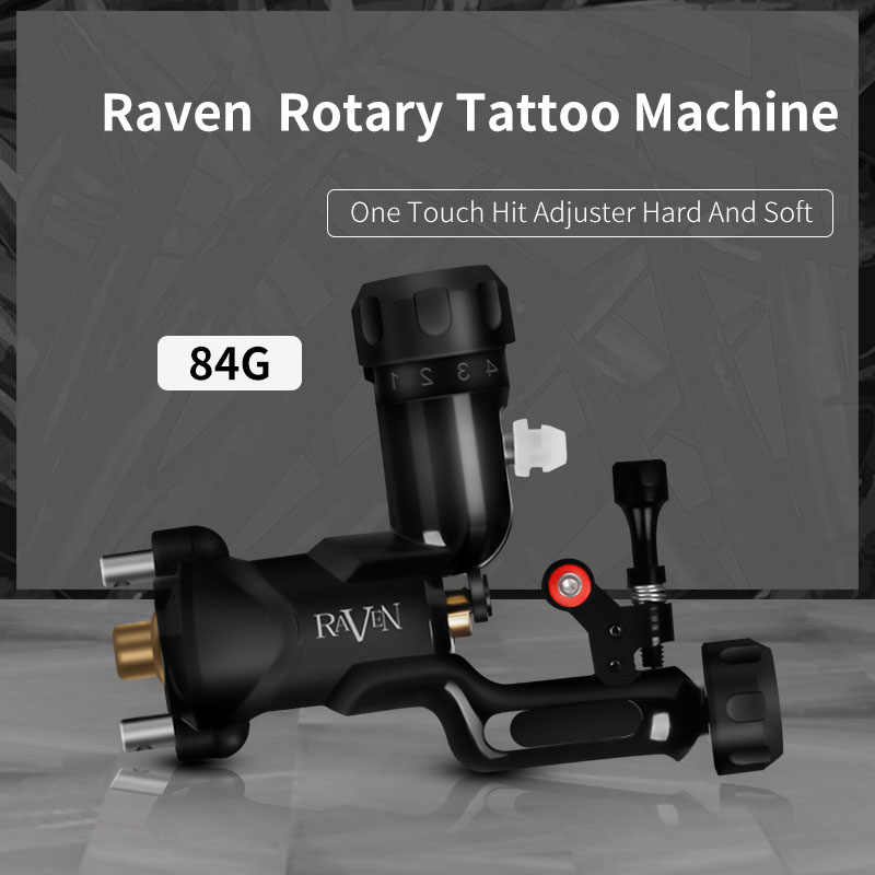 Raven Rotary Tattoo Machine Een Touch Hit Richter Direct Drive Krachtige Tattoo Machine
