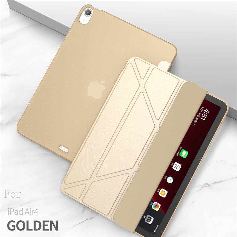 gold Gold Case For iPad Air 4 Case 2020 ipad Air 10 9 inch Funda Smart Stand Cover