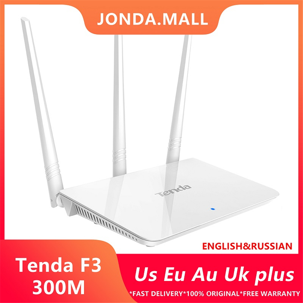 Tenda F3 300Mbps wireless router easy setup Version Router Wireless WIFI 3* 5dBi external antennas Free shipping russian image