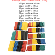 Wire-Cable Heat-Shrink-Tube Shrinking Sleeving-Tubing-Set Polyolefin Insulated Assorted