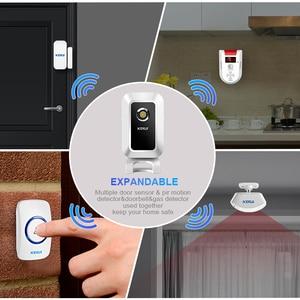 Image 3 - KERUI Wireless Shop Store Welcome Door Entry Chime Smart Doorbell With Button Curtains Infrared Motion Detector Door Alarm