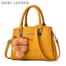 DORI LAYDEN 6 Colors Women Handbags Hairball Leather Luxury Lady Shoulder Bags L