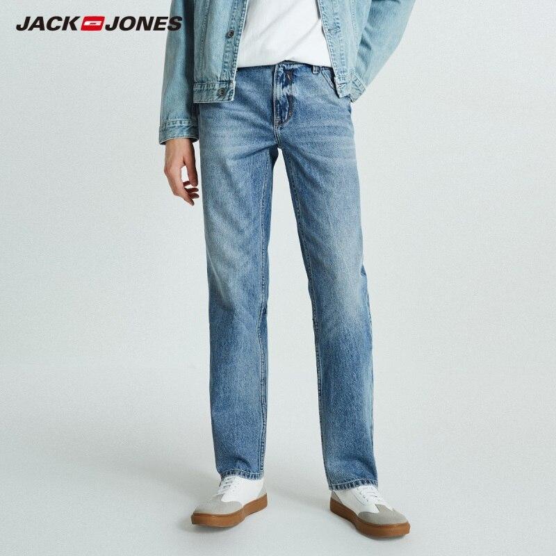 JackJones Autumn Men's Trend Stitching Casual Versatile Jeans 218332529