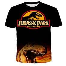 T-shirt «dino» imprimé pour garçons et filles, hauts Harajuku, Jurassic, parc hors ligne