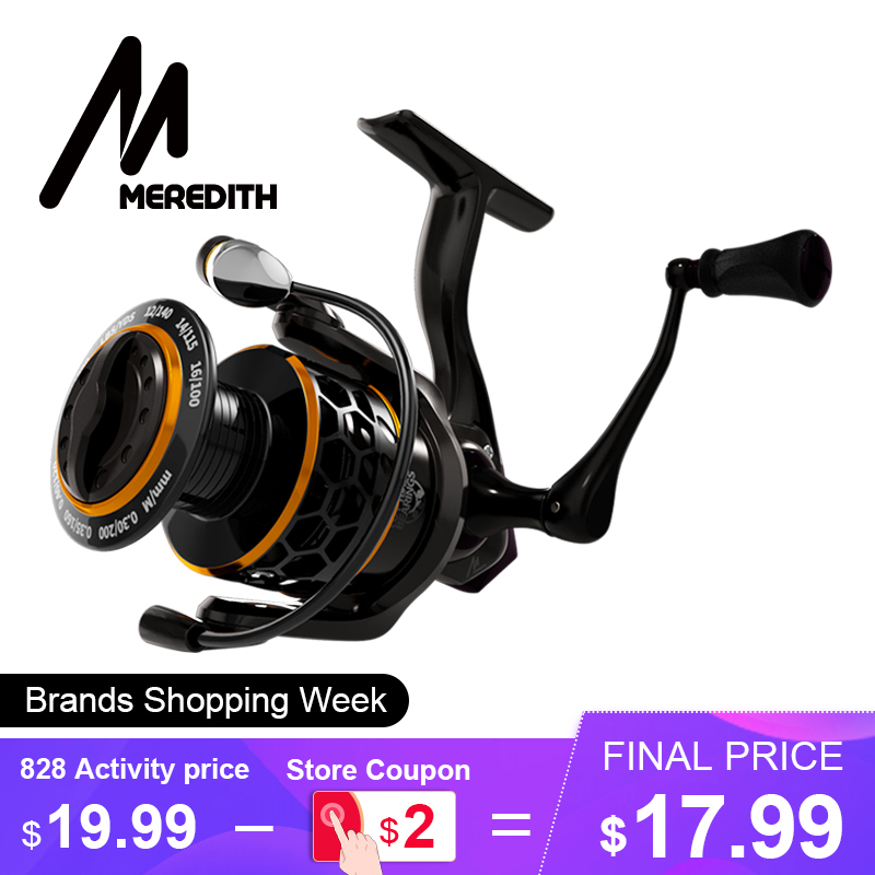 MEREDITH DAFNE KEEN Spinning Reel 5.2:1 2000 3000 4000 Triple Disc Carbon Drag 12KG Max Drag Power Bass Pike Carp Fishing Reels