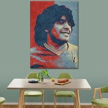 Diego maradona hopestyle arte poster da lona arte da parede decoração cópias sala de estar crianças quarto casa decoração pintura decoração
