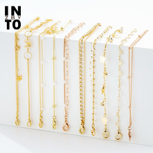 Into Trendy Butterfly Ankle Bracelet Jewelry for Women 2020 Fashion Summer Anklet Jewelry Multi-layered Crystal Pearl Wholesale