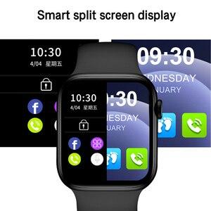 Image 4 - 2021 HW22pro חכם שעון גברים נשים פיצול מסך תצוגה מקורי Smartwatch גוף טמפרטורת צג BT שיחה עבור אנדרואיד IOS IWO