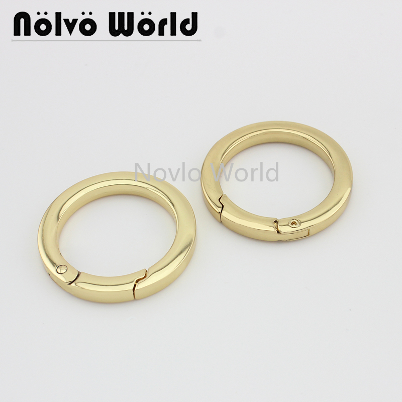 Wholesale 500pcs,3 Colors Accept Mix Color, Inner Width 31mm 1-1/4 Inch, Metal O Ring Handbag Spring Gate Ring Diy Accessories