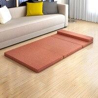 Cheapest Folding Bed Single Use Sleeping Pad Fashion Elastic Kids Mattress/Pad Comfortable Memory Foam Furniture with Headrest