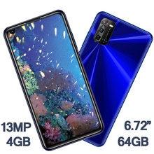 6.72 polegada global smartphones 8a pro 4g ram + 64g rom 8mp 13mp hd frente/câmera traseira telefones celulares android celuares face id desbloqueado