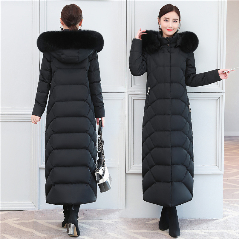 Winter Long Coat Female Thick Women's Down Jacket + Real Fox Fur Hooded Elegant Duck Down Jackets Women Clothes 13